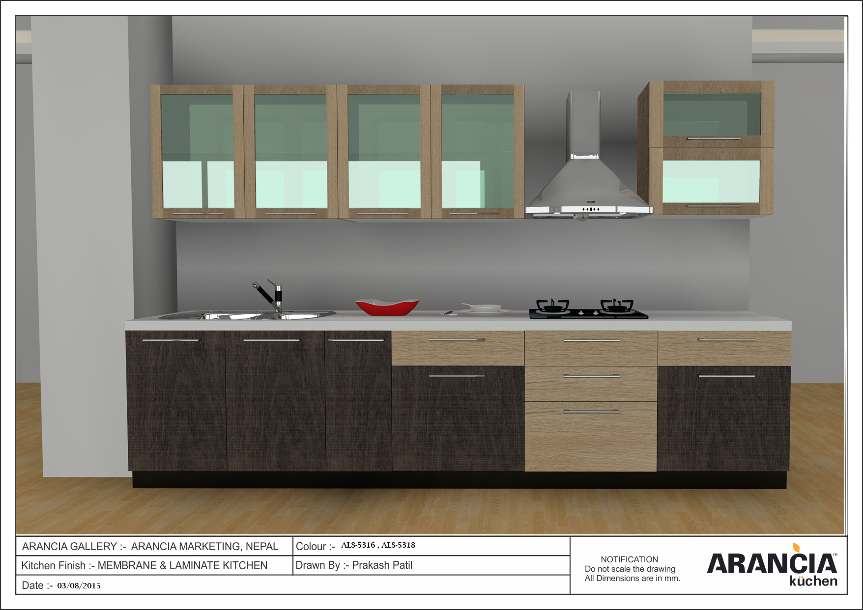 Small Straight Kitchen Design. Straight or single wall kitchen plan is ideal for smaller homes  In this layout all the storage cooking and washing areas are designed along a Small Kitchen Design Tips