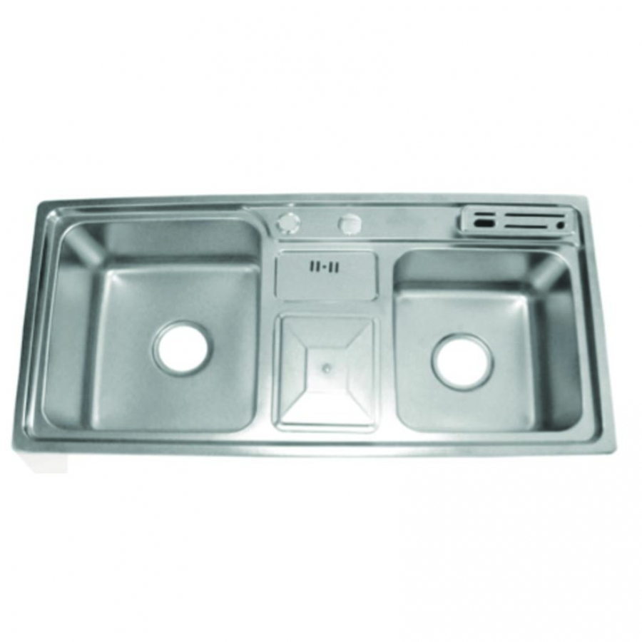 9045 Double Bowl with Dustbin Holder Kitchen Sinks – Nepal ...